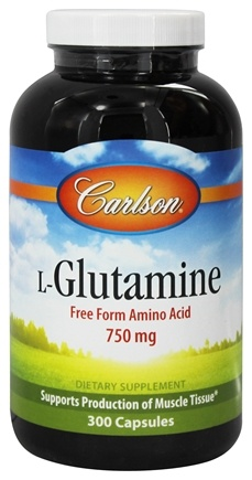 DROPPED: Carlson Labs - L-Glutamine 750 mg. - 300 Capsules