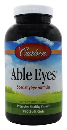 Carlson Labs - Able Eyes Healthy Vision - 180 Softgels