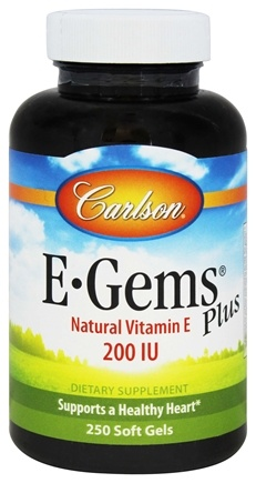 Carlson Labs - E-Gems Plus Natural Vitamin E 200 IU - 250 Softgels
