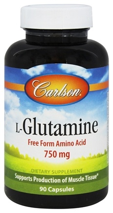 DROPPED: Carlson Labs - L-Glutamine 750 mg. - 90 Capsules CLEARANCE PRICED