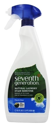 Seventh Generation - Natural Laundry Stain Remover Spray Free & Clear - 22 oz.
