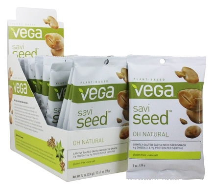 Vega - SaviSeed Oh Natural Inca Peanuts - 12 x 1 oz. (28g) Snack Packs