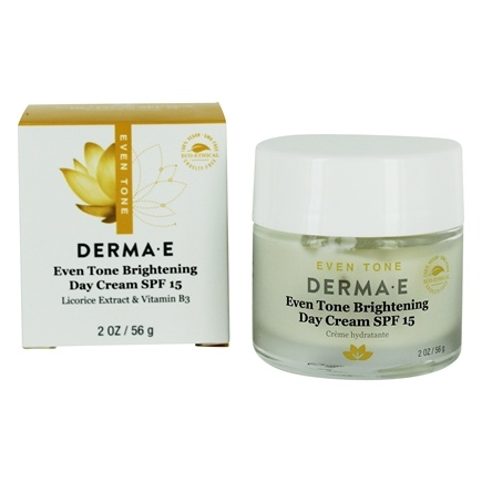 Derma-E - Evenly Radiant Brightening Day Crème 15 SPF - 2 oz.