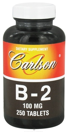 DROPPED: Carlson Labs - Vitamin B-2 100 mg. - 250 Tablets CLEARANCE PRICED