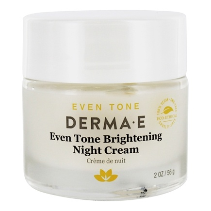 Derma-E - Evenly Radiant Brightening Night Creme With Vitamin C - 2 oz.