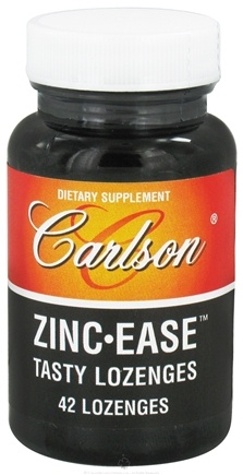 DROPPED: Carlson Labs - Zinc-Ease Tasty Lozenges 10 mg. - 42 Lozenges CLEARANCE PRICED
