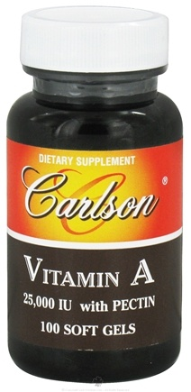 DROPPED: Carlson Labs - Vitamin A with Pectin 25000 IU - 100 Softgels CLEARANCE PRICED