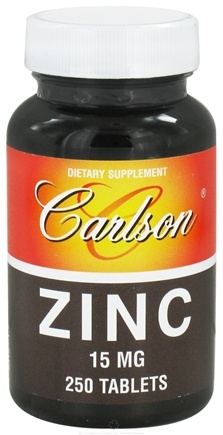 DROPPED: Carlson Labs - Zinc 15 mg. - 250 Tablets CLEARANCE PRICED