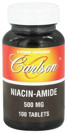 DROPPED: Carlson Labs - Niacin-amide 500 mg. - 100 Tablets