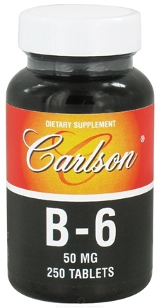 DROPPED: Carlson Labs - Vitamin B-6 50 mg. - 250 Tablets CLEARANCE PRICED