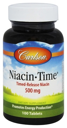 DROPPED: Carlson Labs - Niacin-Time 500 mg. - 100 Tablets CLEARANCE PRICED