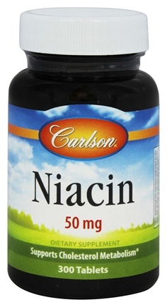 DROPPED: Carlson Labs - Niacin 50 mg. - 300 Tablets CLEARANCE PRICED