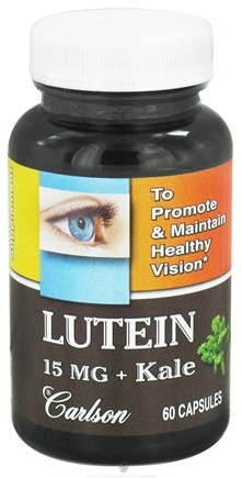DROPPED: Carlson Labs - Lutein + Kale 15 mg. - 60 Capsules