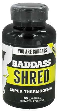 DROPPED: Baddass Nutrition - Shred Super Thermogenic - 60 Capsules CLEARANCE PRICED