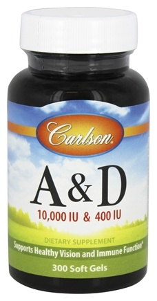 Carlson Labs - Vitamin A & D/10,000 IU & 400 IU - 300 Softgels