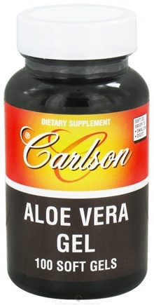 DROPPED: Carlson Labs - Aloe Vera Gel 25 mg. - 100 Softgels CLEARANCE PRICED