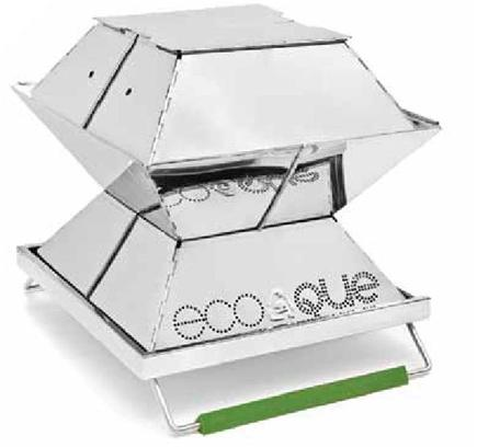 EcoQue - Portable Grill Stainless Steel - 12 in.