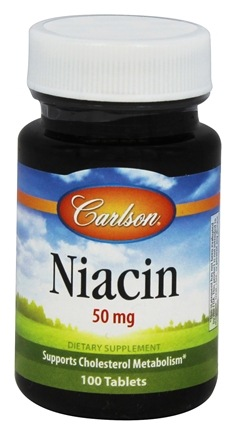 DROPPED: Carlson Labs - Niacin 50 mg. - 100 Tablets
