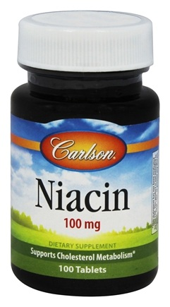 DROPPED: Carlson Labs - Niacin 100 mg. - 100 Tablets