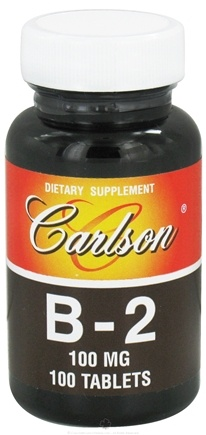DROPPED: Carlson Labs - Vitamin B-2 100 mg. - 100 Tablets CLEARANCE PRICED