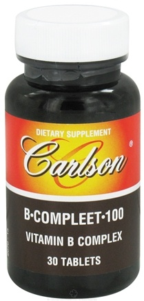 DROPPED: Carlson Labs - B-Compleet-100 Vitamin B Complex - 30 Tablets CLEARANCE PRICED