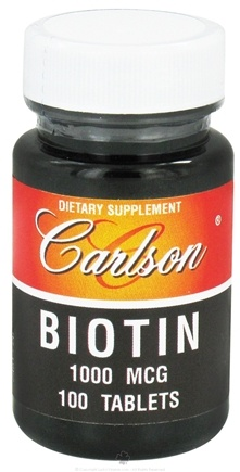 DROPPED: Carlson Labs - Biotin 1000 mcg. - 100 Tablets CLEARANCE PRICED