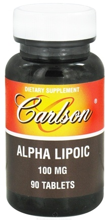 DROPPED: Carlson Labs - Alpha Lipoic 100 mg. - 90 Tablets CLEARANCE PRICED