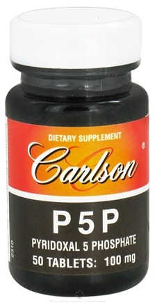 DROPPED: Carlson Labs - P5P Pyridoxal-5-Phosphate 100 mg. - 50 Tablets