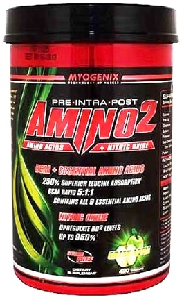 DROPPED: Myogenix - Amino2 Green Apple - 420 Grams CLEARANCE PRICED