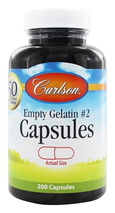 Carlson Labs - Empty Gelatin Capsules Size 2 Small - 200 Capsules