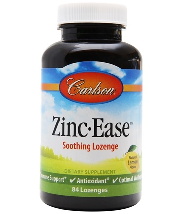 DROPPED: Carlson Labs - Zinc-Ease Tasty Lozenges 10 mg. - 84 Lozenges CLEARANCE PRICED