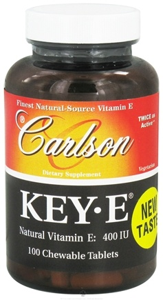 DROPPED: Carlson Labs - Key-E Natural Vitamin E 400 IU - 100 Chewable Tablets