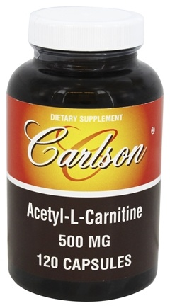 DROPPED: Carlson Labs - Acetyl-L-Carnitine 500 mg. - 120 Capsules