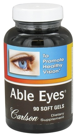 DROPPED: Carlson Labs - Able Eyes Healthy Vision - 90 Softgels