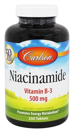 Carlson Labs - Niacinamide 500 mg. - 250 Tablets
