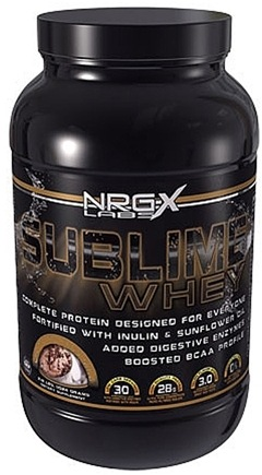 DROPPED: NRG-X Labs - Sublime Ultra-Premium Whey Protein Chocolate Peanut Butter Cup - 2.71 lbs. CLEARANCE PRICED