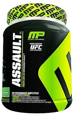 DROPPED: Muscle Pharm - Assault Pre-Performance Amplifier Green Apple - 1.62 lbs.
