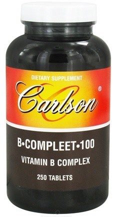 DROPPED: Carlson Labs - B-Compleet-100 Vitamin B Complex - 250 Tablets CLEARANCE PRICED