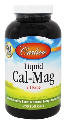 Carlson Labs - Liquid Cal-Mag - 250 Softgels