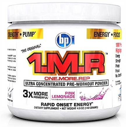 DROPPED: BPI Sports - 1 M.R Ultra Concentrated Pre-Workout Powder - 28 Servings Pink Lemonade - 140 Grams