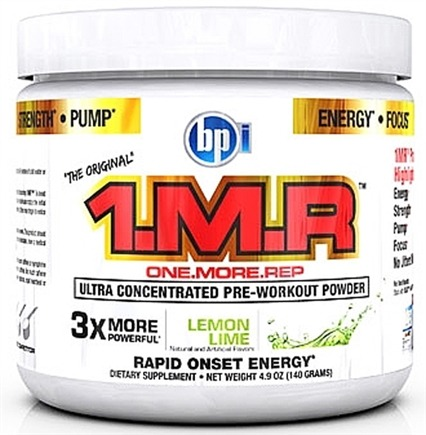 DROPPED: BPI Sports - 1 M.R Ultra Concentrated Pre-Workout Powder - 28 Servings Lemon Lime - 140 Grams