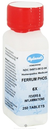 DROPPED: Hylands - Ferrum Phosphoricum 6 X - 250 Tablets CLEARANCE PRICED