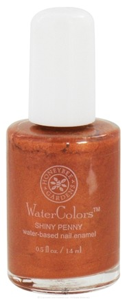 DROPPED: Honeybee Gardens - WaterColors Water Based Nail Enamel Shiny Penny - 0.5 oz. CLEARANCE PRICED