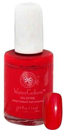 DROPPED: Honeybee Gardens - WaterColors Water Based Nail Enamel Wildfire - 0.5 oz.