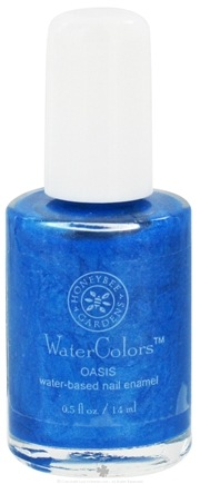 DROPPED: Honeybee Gardens - WaterColors Water Based Nail Enamel Oasis - 0.5 oz. CLEARANCE PRICED