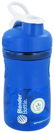 DROPPED: Blender Bottle - SportMixer Tritan Grip Blue/White - 20 oz. By Sundesa
