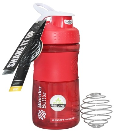 Blender Bottle - SportMixer Tritan Grip Red/White - 20 oz. By Sundesa