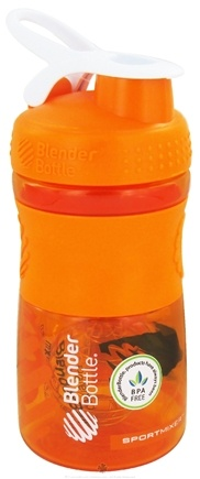 DROPPED: Blender Bottle - SportMixer Tritan Grip Orange/White - 20 oz. By Sundesa CLEARANCE PRICED