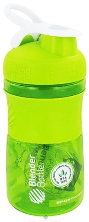 DROPPED: Blender Bottle - SportMixer Tritan Grip Green/White - 20 oz. By Sundesa CLEARANCE PRICED