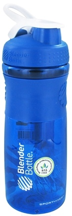 DROPPED: Blender Bottle - SportMixer Tritan Grip Blue/White - 28 oz. By Sundesa CLEARANCE PRICED